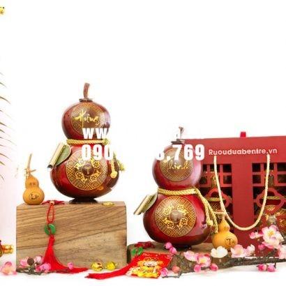 Rượu dừa hồ lô Bến Tre tết Hưng - Thinh